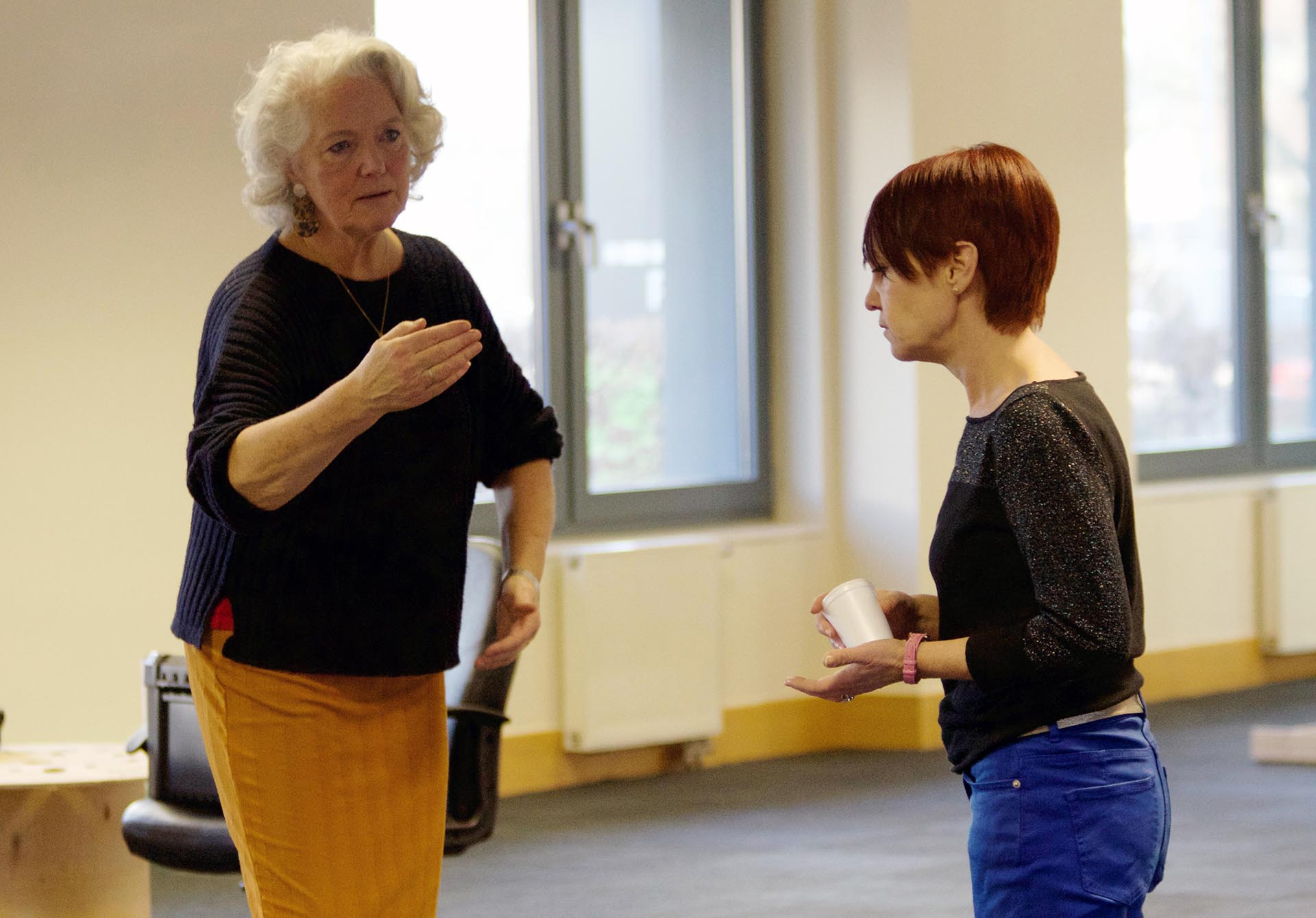 Revenge - Louise Jameson & Kate Ashmead in rehearsals